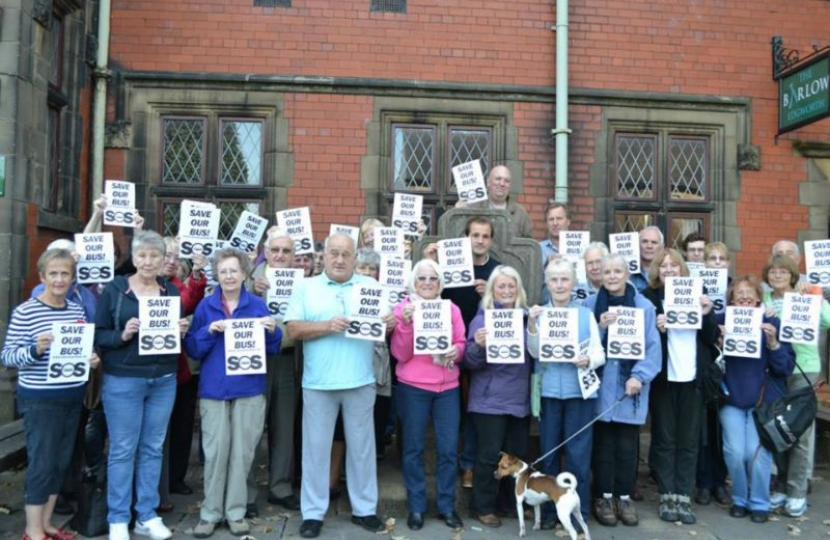 Jake joins Edgworth residents in battle to save the bus service.